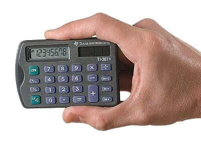 Texas Instruments TI 307 Credit Card Sized Calculator From Cole Parmer