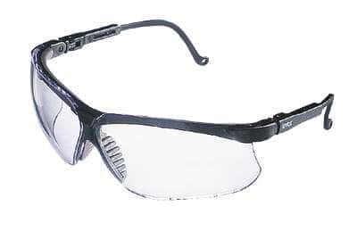 uvex by honeywell s3200 black frame glasses with clear lenses