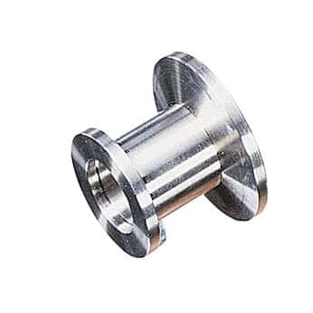 Vacuubrand 669041 Flange Adapter Vacuum Pump Fitting, Aluminum, NW 16 to NW  25