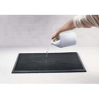 wearwell sanitizing floor mat tall wall 32 x 39 black from cole