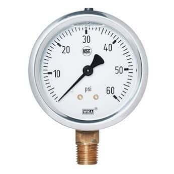 WIKA Pressure Gauge 0-60 PSI Scale