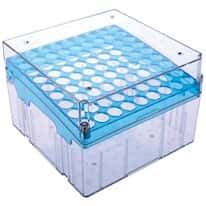 "Argos Technologies Magne-Box™ Magnetic Polycarbonate Cryo-Boxes, Tall 81-Place, Blue, 5 1/4 x 5 1/4 x 3 3/4"", 4/pk"