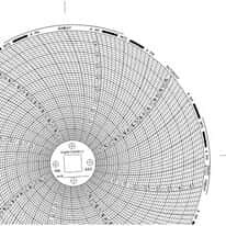 "Dickson C657 Chart Paper for 6"" Circular Recorder; 7 day, 0 to 100°F/°C"