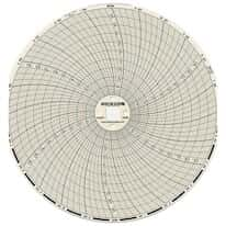 "Dickson C658 Chart Paper for 6"" Circular Recorder; 24 hour, 0 to 100°F/°C"