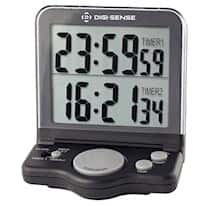 Digi-Sense Dual-Display 2-Channel Jumbo-Digit Digital Clock/Timer