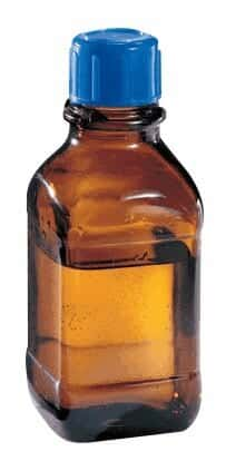 DWK Life Sciences (Wheaton) 844030 Amber Glass Safety Bottle, USP Type 3, Round, 2500 mL, 45 mm cap