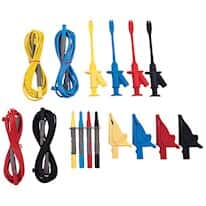 Extech PQ1000 Voltage Test Leads with Alligator Clips (4 leads)