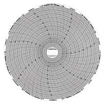"Graphic Controls 31085874 Chart Paper for 8"" Circular Recorders; 24 hour, 20 to 50°, 60 sheets/pk"
