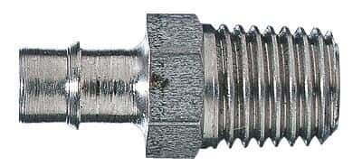 "Masterflex Fitting, 316 Stainless Steel, Straight, Hose Barb to Threaded Adapter, 1/8"" ID x 1/4"" NPT(M)"