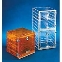 "Plas-Labs 862/CG/SHELF Shelf f/ Stackable Acrylic Dessicator Cabinets w/ Gas Ports, clear, 18"" x 18"""