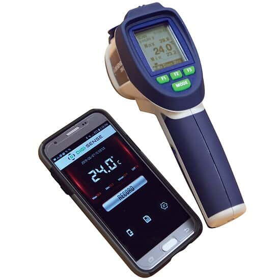 Digi-Sense Professional Dual-Laser Infrared Thermometer with Bluetooth® Connectivity, 50:1