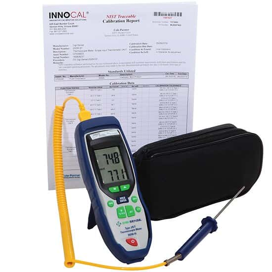 Digi-Sense Single-Input Thermocouple Thermometer System with NIST-Traceable Calibration