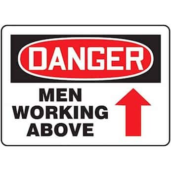 Danger men working above arrow signs from cole parmer danger men working above arrow signs sciox Gallery