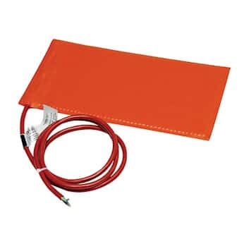 Silicone Rubber Heater Blankets Plastic Surfaces with Adhesive 120 VAC