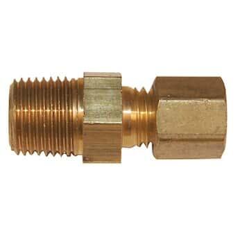 Digi-Sense Compression Fitting; Probe Diameter 1//4; Brass; 1//4NPT M