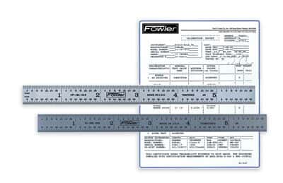 Fowler NIST-Certified Rulers