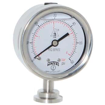 winters 3a sanitary pressure gauges from cole parmer. Black Bedroom Furniture Sets. Home Design Ideas