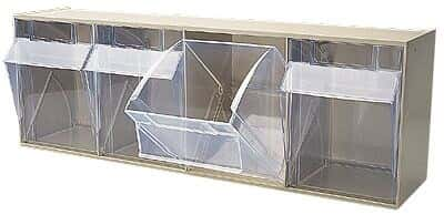 Akro-Mils QTB 305 IVORY Tip-Out Bin System 5-Bin Capacity  sc 1 st  Cole-Parmer & Storage Containers from Cole-Parmer